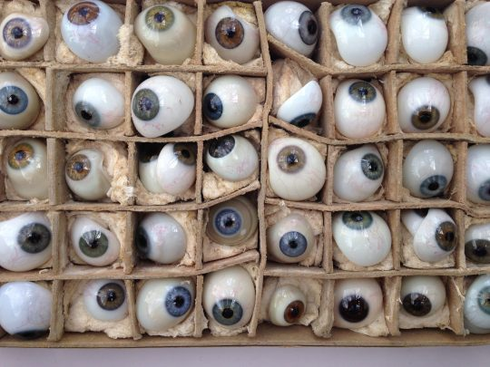 A collection of glass eyes!