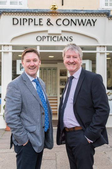 Contact Lens experts Damian Conway and James Conway (image copyright Newsmakers PR))