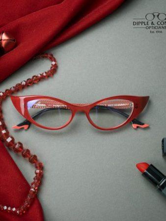 Red vintage winged glasses
