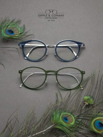 blue and green glasses