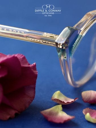 close up of glasses with rose