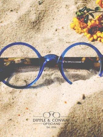 Glasses in sand