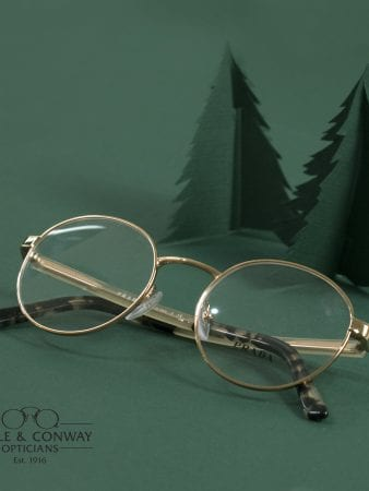 Glasses with trees in background