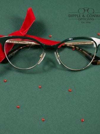 Glasses with red ribbon